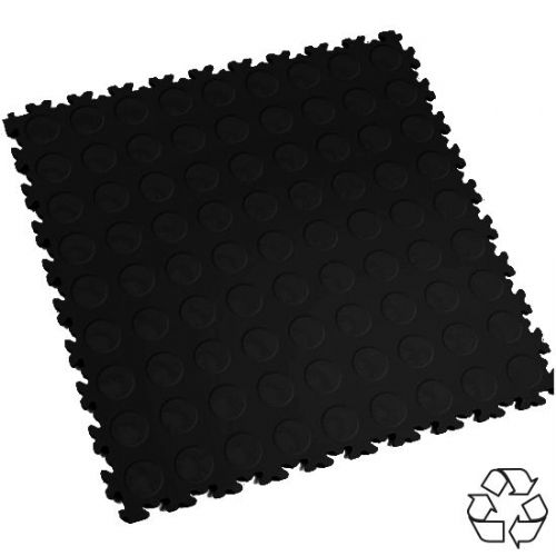 Black Recycled Cointop - Motolock Interlocking Tile
